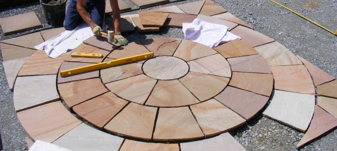 Circle patio set