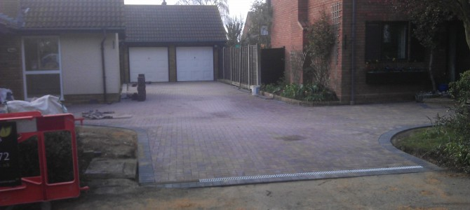 Large Joint Driveway in Kelvedon
